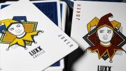 LUXX Greille (Silver/Navy) Playing Cards