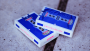 Royal Blue Gemini Casino Playing Cards by Toomas Pintson