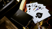 New T Playing Cards (Black)