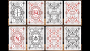 Vintage Label Playing Cards (Silver Gilded White Edition) by Craig Maidment