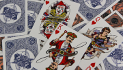 Circus No. 47 (Peach Gilded) Playing Cards