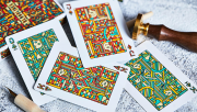Bloodlines (Emerald Green) Playing Cards by Riffle Shuffle