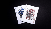 666 Blue Playing Cards by Riffle Shuffle