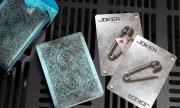Bicycle Metal Rider Back (Blue) Playing Cards