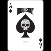 Doomsday Deck (Blood Red) by Diamond Jim Productions - (Out Of Print)