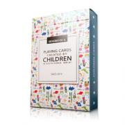 Children Playing Cards by JL