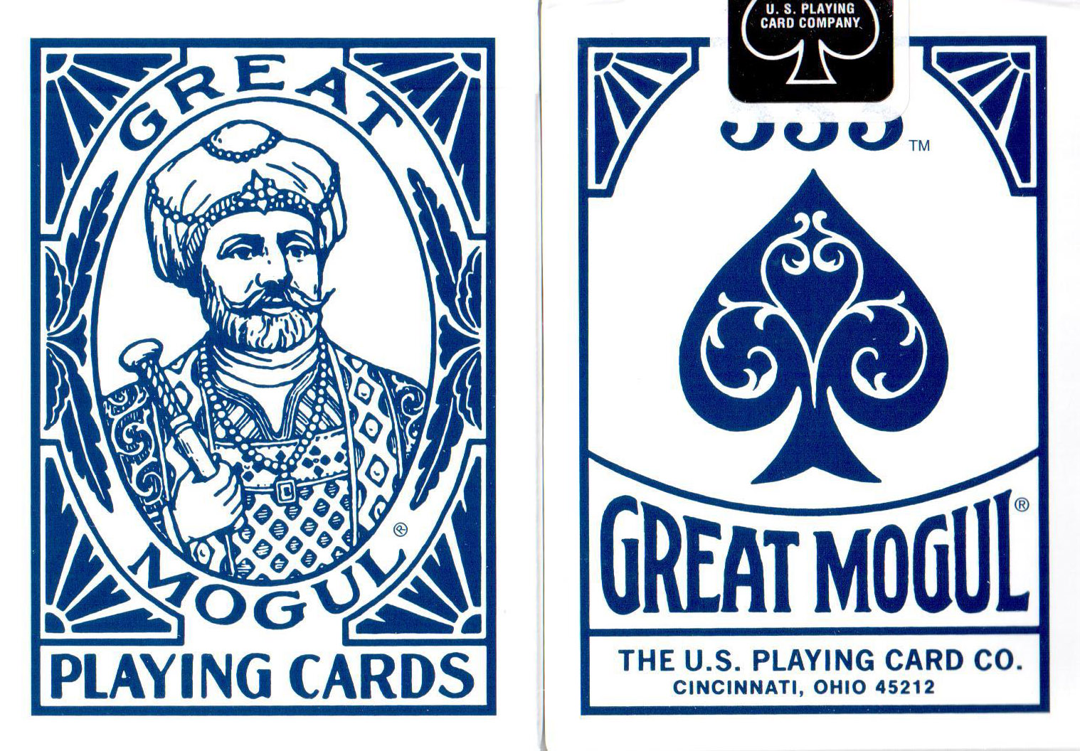 The Great Mogul Playing Cards (Blue) by USPCC (Rare)