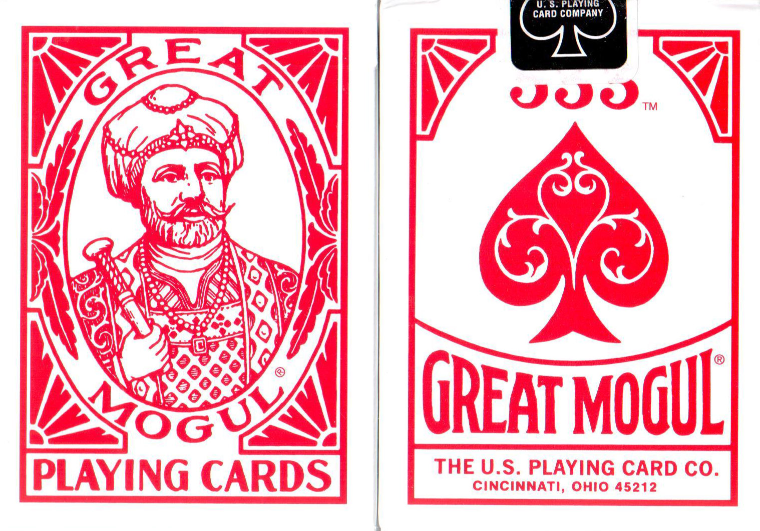 The Great Mogul Playing Cards (Red) by USPCC (Rare)