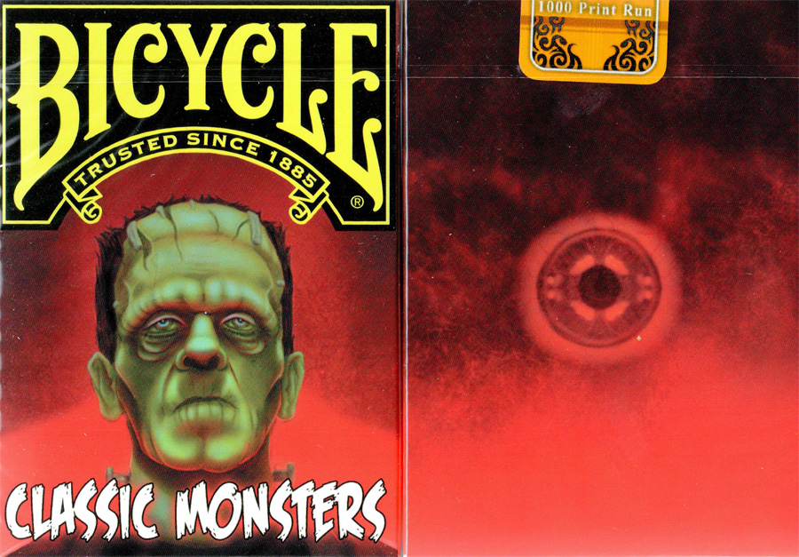 Bicycle Classic Monsters Limited Edition Playing Cards by Classics Playing Cards