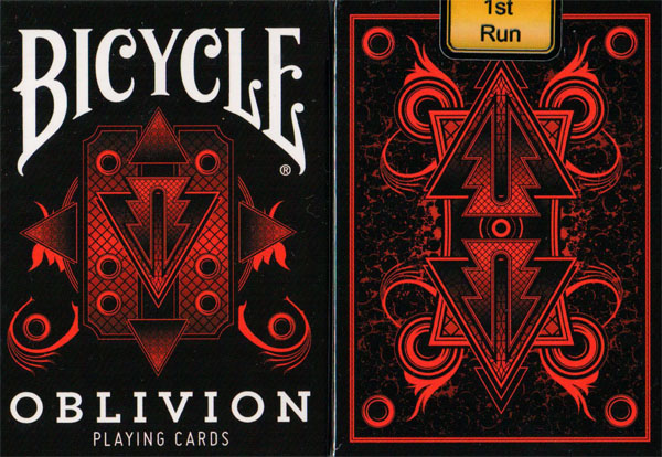 1st Run Misprinted Bicycle Oblivion Deck (Red) By Collectable Playing Cards