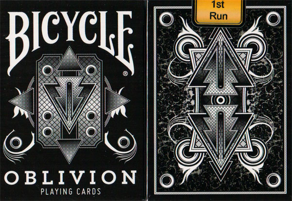 1st Run Misprinted Bicycle Oblivion Deck (White) By Collectable Playing Cards