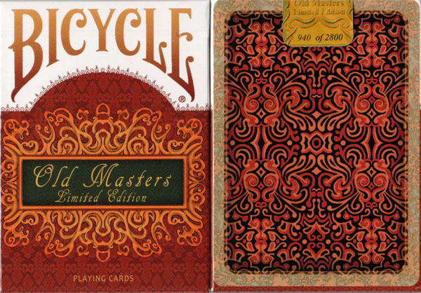 Bicycle Old Masters Limited Edition Playing Cards by Collectable Playing Cards