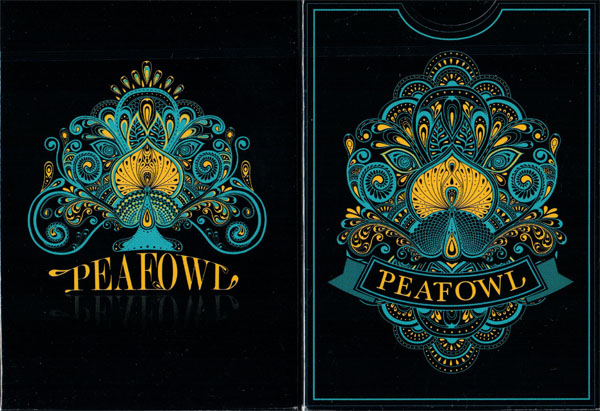 Peafowl Deck (Black) by Aloy Studios - (Out of Print)