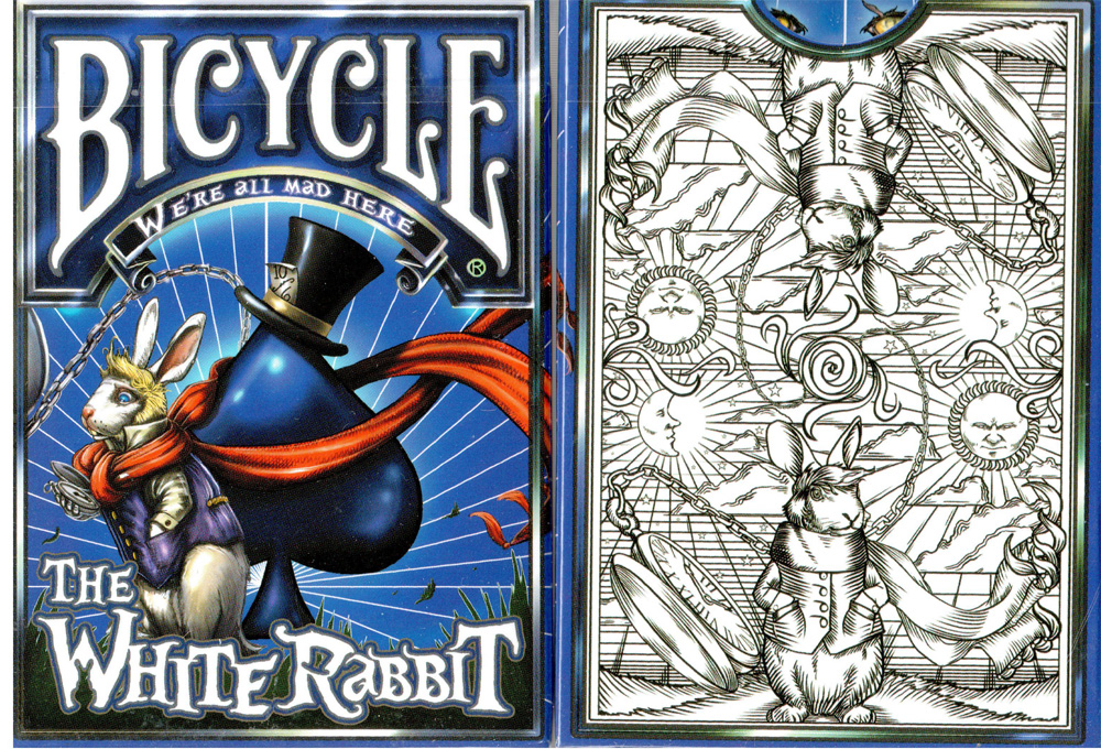 Bicycle White Rabbit Unlimited White Deck Playing Cards