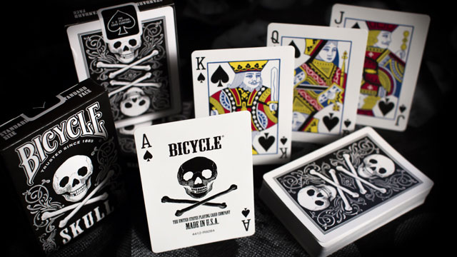 Bicycle Skull Mettalic Silver Playing Cards Deck New