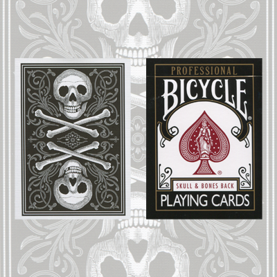 Skull and Bones Deck (Black)Cambric finish  by Conjuring Arts Research Center