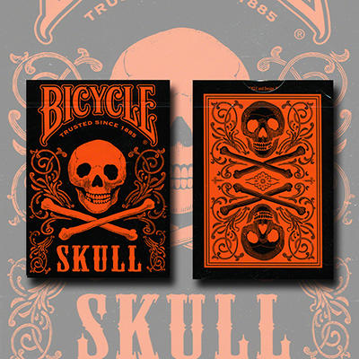 Bicycle Skull Metallic (Orange) USPCC by Gambler's Warehouse