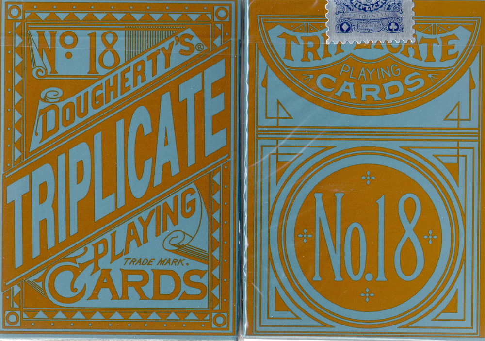 Triplicates Playing Cards Blue