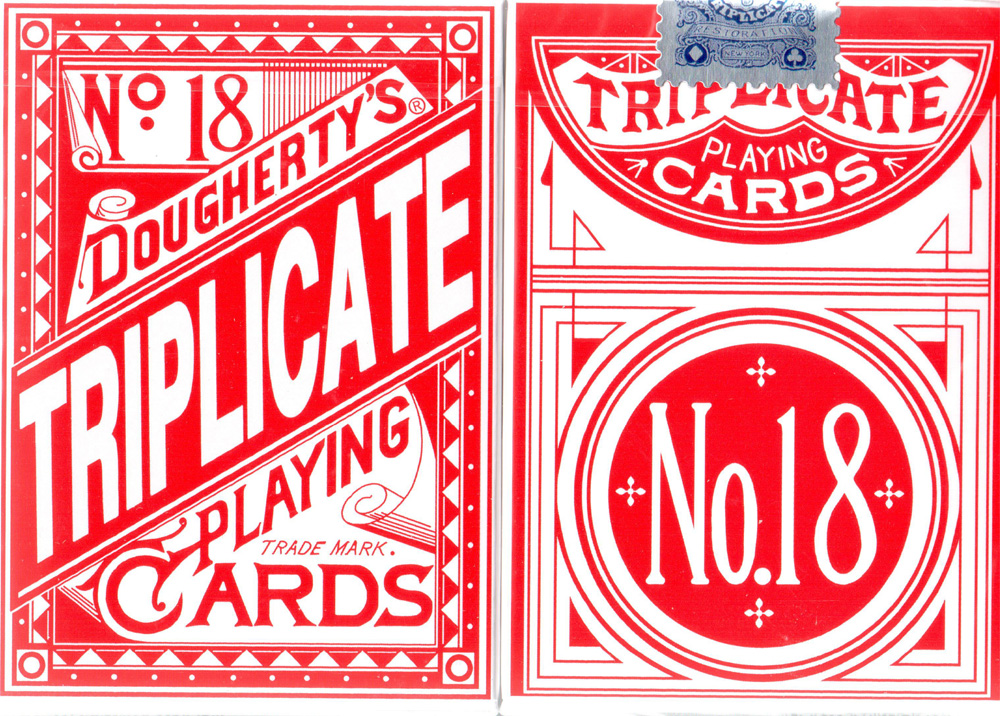 Triplicates Playing Cards Red