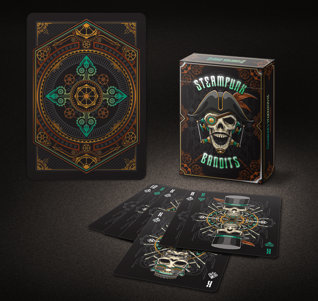 Un-Branded Steampunk Bandits Playing Cards