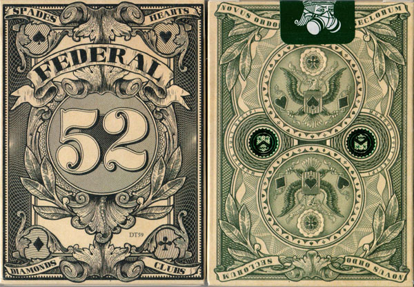Federal 52 Playing Card Deck by Jackson Robinson - (Out Of Print)