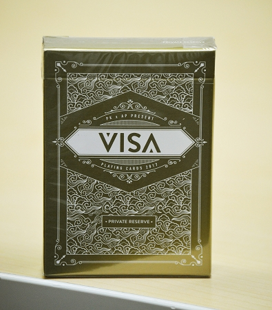 Visa Private Reserve Gold Playing Cards Deck