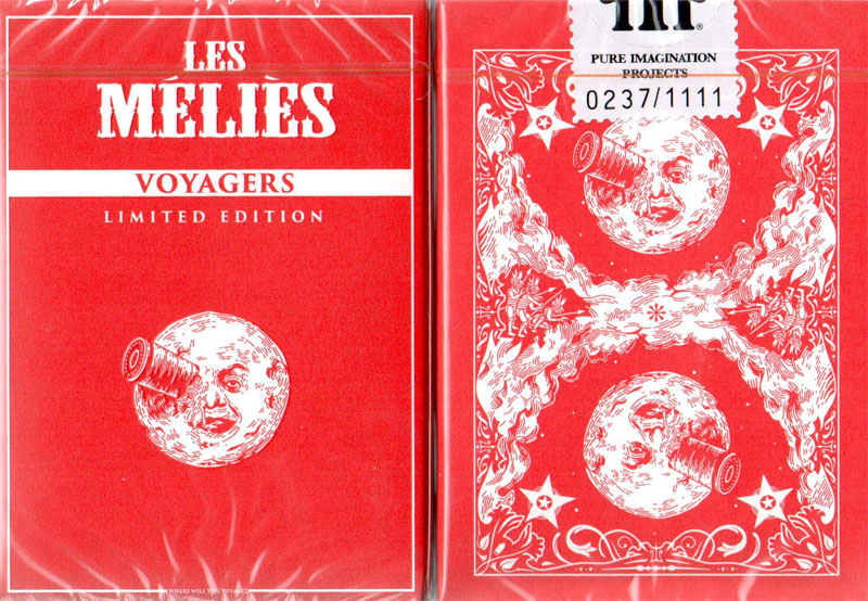 Les Melies Voyager Playing Cards (Limited Edition Numbered Red)
